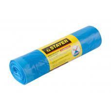 Мешки для мусора STAYER Comfort с завязками, особопрочные, голубые, 120л, 10шт, 39155-120