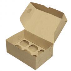 Коробка для 6 капкейков 25*17*10 (см) бурая
