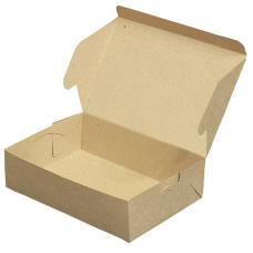 Коробка для пирожных, выпечки и др. продуктов,без вкладыша 22*15*6 (см) бурая