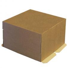 Коробка для торта, из бурого микрогофрокартона 30*30*19 (см)