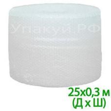 """Воздушно пузырьковая пленка, 25*0.3 м  двухслойная  """"Компакт"""""""