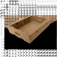 Коробка для кондитерских изделий (лоток) 560x375x110, бур.