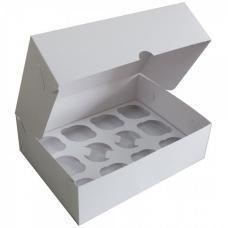 Коробка для 12 капкейков 33*25*10 (см) белая