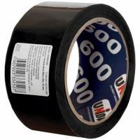 Скотч (клейкая лента) черный 48 мм*66 м, 45 мкм UNIBOB