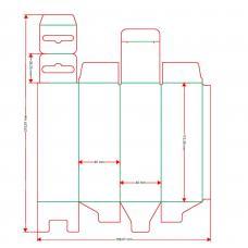 Коробочка с европодвесом 40x115x40 мм