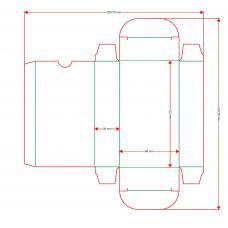 Коробка для колоды 66x120x28 мм