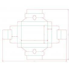 Дно-ложемент для колоды карт, Н=32