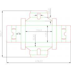 Ложемент для карт 80х120 мм