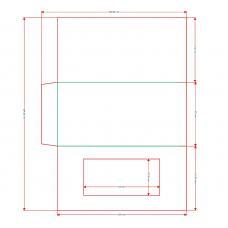 Открытка-приглашение с окном и клапаном, 204х102 мм