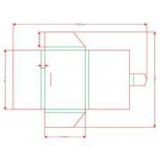 Кармашек-конвертик 100х68х6 мм с замочком