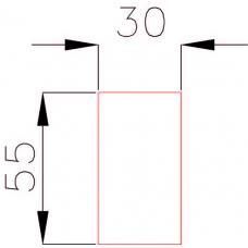 Наклейка 55x30 мм