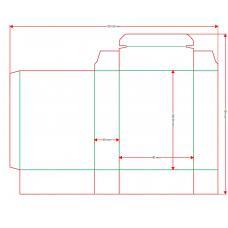 Коробочка c ложементом для карточек 63,5х89 мм