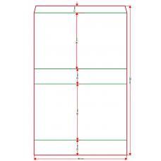 Обечайка для ложемента под две колоды карточек 60х60 мм