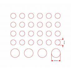 Фишки для игры, 15 и 25 мм