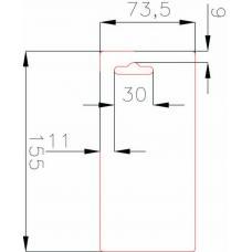Европодвес 74x155 мм