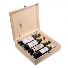 Упаковка для 4 бутылок вина (модель №20)
