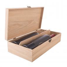 Коробка с крышкой для 2 бутылок вина (модель №11)