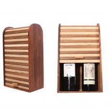 Уникальная подарочная коробка для 2 бутылок вина (модель №22)