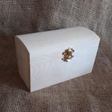 Шкатулка деревянная Сундук 16 х 8 см